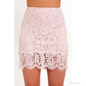 Lulu's Tiered Lace Mini Skirt, Sz XS